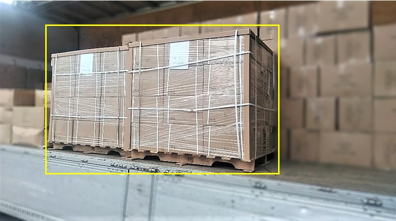 輸送品:輸入貨物(1100mmx1200mmx1400mm)×2PLT