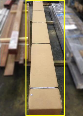 輸送品:鋼管(段ボール梱包)4000mm