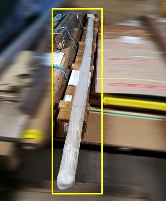 輸送品:鋼管パイプ 4,000㎜、20本1結束