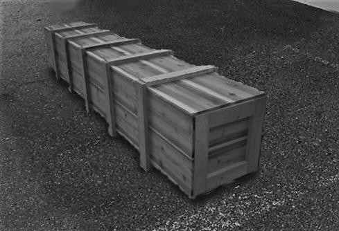輸送品:木箱( 2700㎜×600㎜×400㎜)