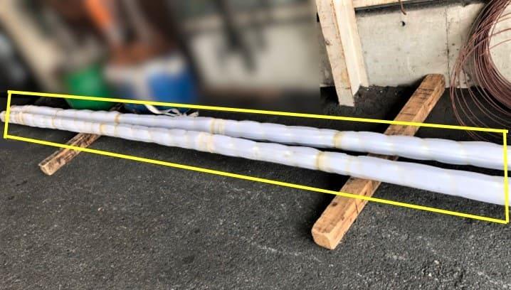 輸送品:ステンレスパイプ(6,000㎜)15本1結束×2結束